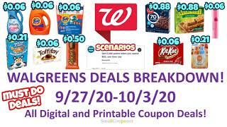 Walgreens Deals Breakdown 9/27/20-10/3/20! All Digital and Printable Coupon Deals!