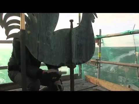 Video: Sākusies Valmieras Sv.Sīmaņa baznīcas torņa atjaunošana