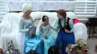 Averys Frozen Coronation Birthday Party 2014