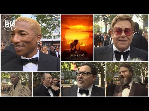 The Lion King Premiere Interviews - Elton John, Pharrell, Seth Rogen