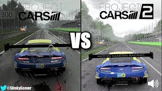 Project CARS 2 vs Project CARS - Aston Martin GT3 @ Monza - Graphics and sound comparison