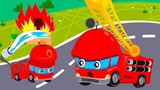 Мультики про машинки. Пожарные машины мультфильм. Мультик песня Анимашка Познавашка Учим цвета
