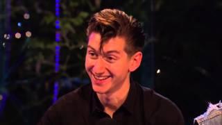 Arctic Monkeys - interview Glastonbury Festival UK  28th June 2013