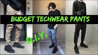 5 BUDGET TECHWEAR PANTS  |  DIY