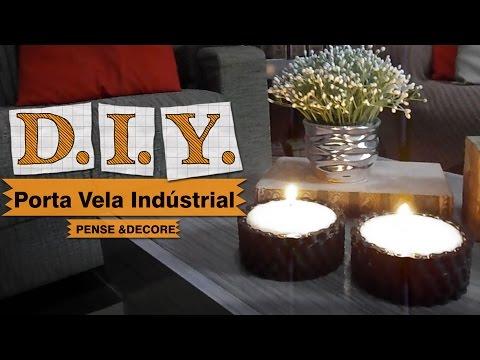 Porta vela industrial