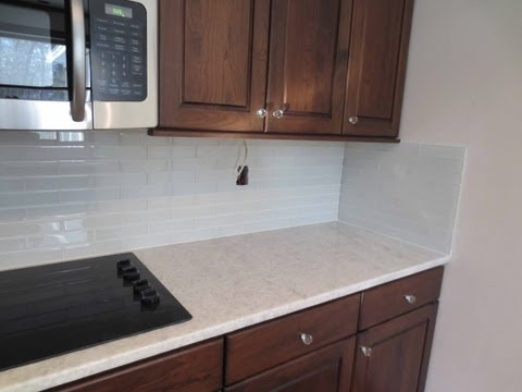 How to install Glass tile Kitchen  Backsplash