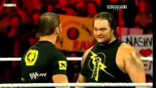 WWE Raw 1 10 11 Cm Punk and Nexus destroy Michael Mcgillicutty (he takes 5 finishers)