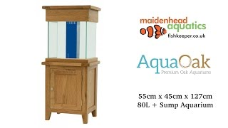 Aqua Oak 'Small Cube' Systemised Aquarium (AQ55CS)