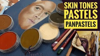 Skin Tones With Pastels, Panpastels & Pastel Pencils - Real Time