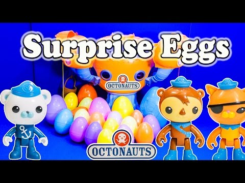 Opening Octonauts Surprise Eggs and Toys with the Assistant