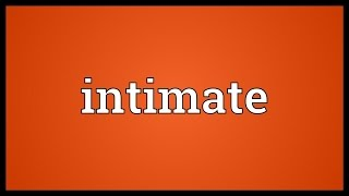 Intimate Meaning