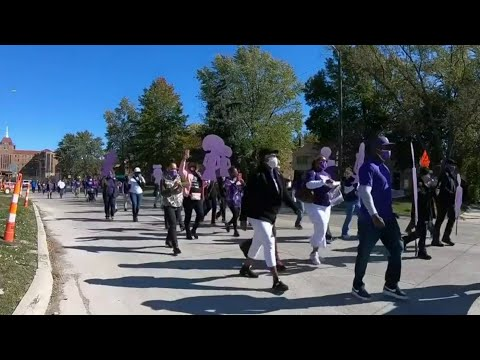 Detroit police hold domestic violence remembrance walk