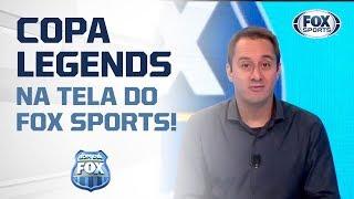 TÁ CHEGANDO A HORA! Copa Legends com ídolos mundiais, exclusivo no FOX Sports!