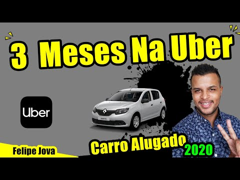 3 Meses Na Uber, 2020 Carro Alugado.
