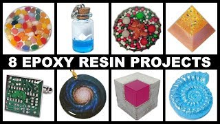 8 Easy Epoxy Resin Projects | Magnets | Paperweights | Cufflinks | Pendants + More | DIY Tutorial
