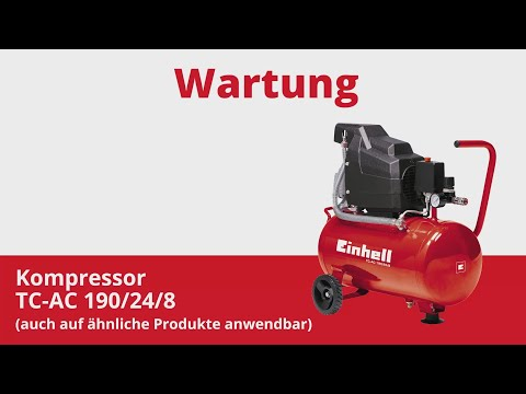 Wartung des Einhell Kompressors TC AC 190 24 8