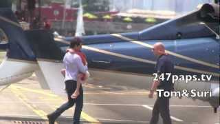 СУРИ КРУЗ, Tom Cruise & Suri Cruise Take a Helicopter Ride in New York City