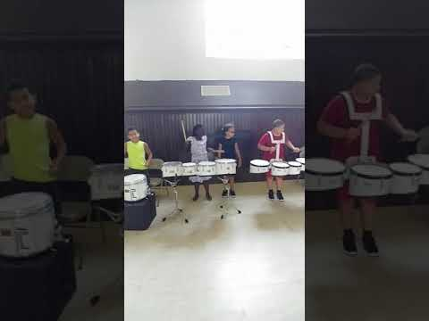 """Inner City Rhythm Drummers"" program at St. Michael's summer camp"
