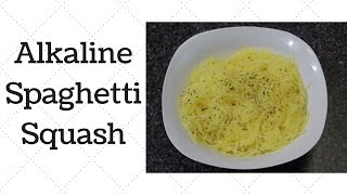 Spaghetti Squash Dr.Sebi Alkaline Electric Recipe