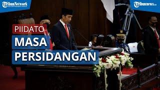 Presiden Jokowi Sampaikan Pidato Masa Persidangan 1 Tahun di Kompleks Parlemen Senayan