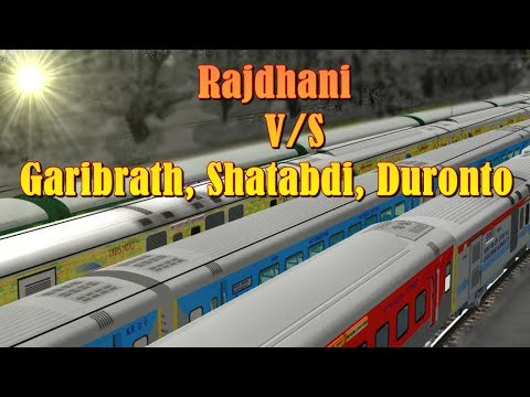 Race Between Rajdhani V/S Shatabdi, Garib Rath, Duronto And Winner