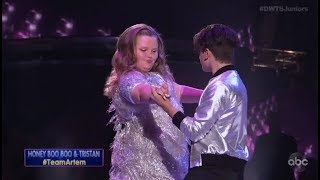 "Alana ""Honey Boo Boo"" Thompson & Tristan Ianiero - Dancing With The Stars Juniors Episode 2"
