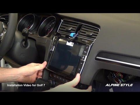Alpine X901D-G7 for Golf 7 installation