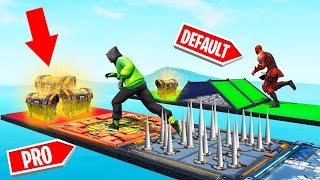PRO vs. DEFAULT DEATHRUN Challenge In FORTNITE!