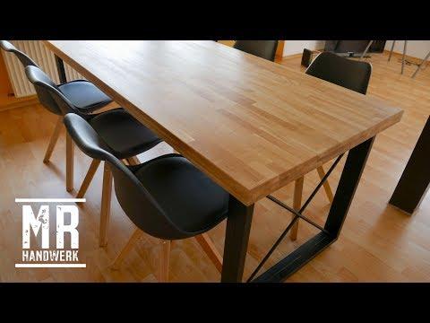 (1/2) Designer Tisch selber bauen. Ausführliche Anleitung