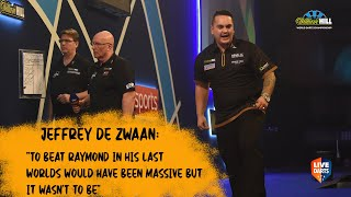 "Jeffrey De Zwaan: ""To beat Raymond in his last Worlds would have been massive but it wasn't to be"""