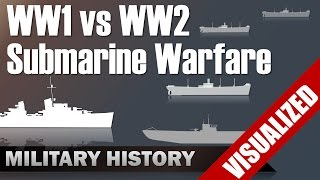 Submarine Warfare WW1 Vs WW2   Differences & Commonalities