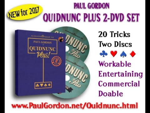 Quidnunc Plus 2-DVD Set Promotional Video - Paul Gordon Card Magic