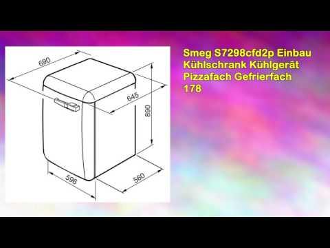 Smeg S7298cfd2p Einbau Kühlschrank Kühlgerät Pizzafach Gefrierfach 178