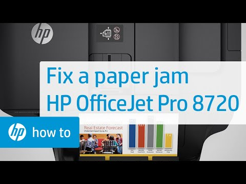 Fixing a Carriage Jam on the HP OfficeJet Pro 8720 Printer | HP
