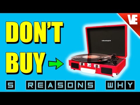 Record Player: Crosley – Top 5 Reasons NOT to Buy!