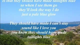 Alan Jackson   Taillights Blue lyrics