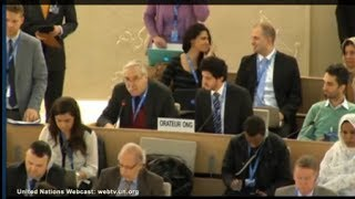 Prof. Gerald Steinberg, speaking at the UN HRC, on BDS