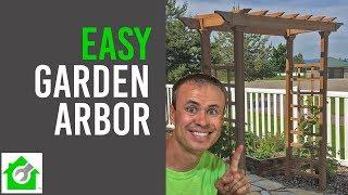How To Install A Garden Arbor