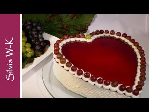 Traubentorte / Torte / Herzform