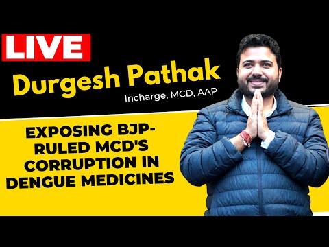 LIVE | Senior AAP leader Durgesh Pathak exposing BJP-ruled MCD's Corruption in Dengue Medicines