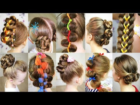10 cute 5-MINUTES hairstyles for busy morning!  Quick & Easy Hairstyles for School!