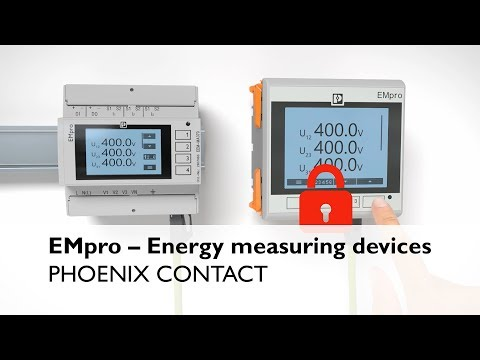 EMpro energy measuring devices: The fastest way to measuring you energy consumption