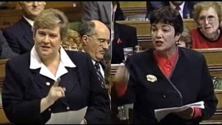 (1996) Hon. Deborah Grey & Hon. Sheila Copps Face-off In QP | House of Commons Question Period