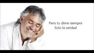 """Andrea Bocelli """"Dell'amore non si sa"""" Subtitulada"""