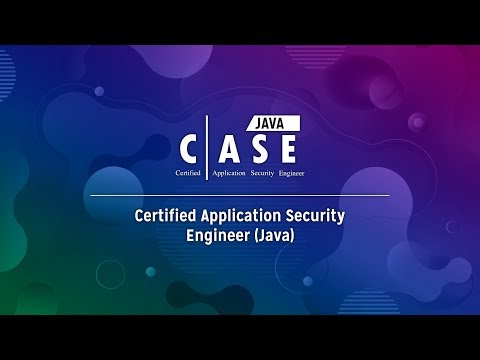 Certified Application Security Engineer (CASE) - Java - YouTube