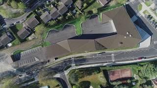 Vidéo/drone école cuivre bois et béton