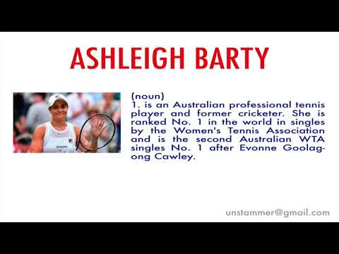 How to Pronounce Ashleigh Barty