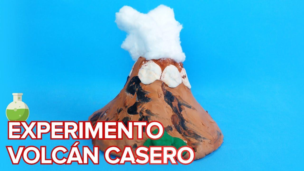 Volcán en erupción casero | Experimento para niños