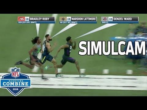 40-Yard Dash Simulcam: Denzel Ward vs. Marshon Lattimore, Bradley Roby & More!   NFL Combine