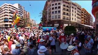 Праздники Аликанте в видео 360, Video 360 VR, Hogueras de San Juan 2018, Alicante